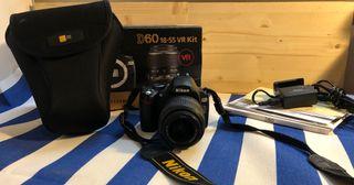 Nikon Digital-Reflex D60 + objetivo 18-55 mm