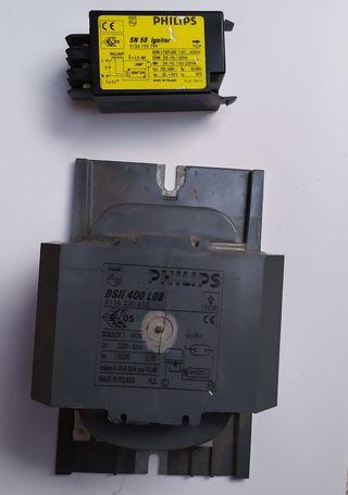 Reactancia y arrancador lamparas sodio/halogenuros
