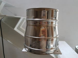 Adaptador tubo chimenea A.Inox 316