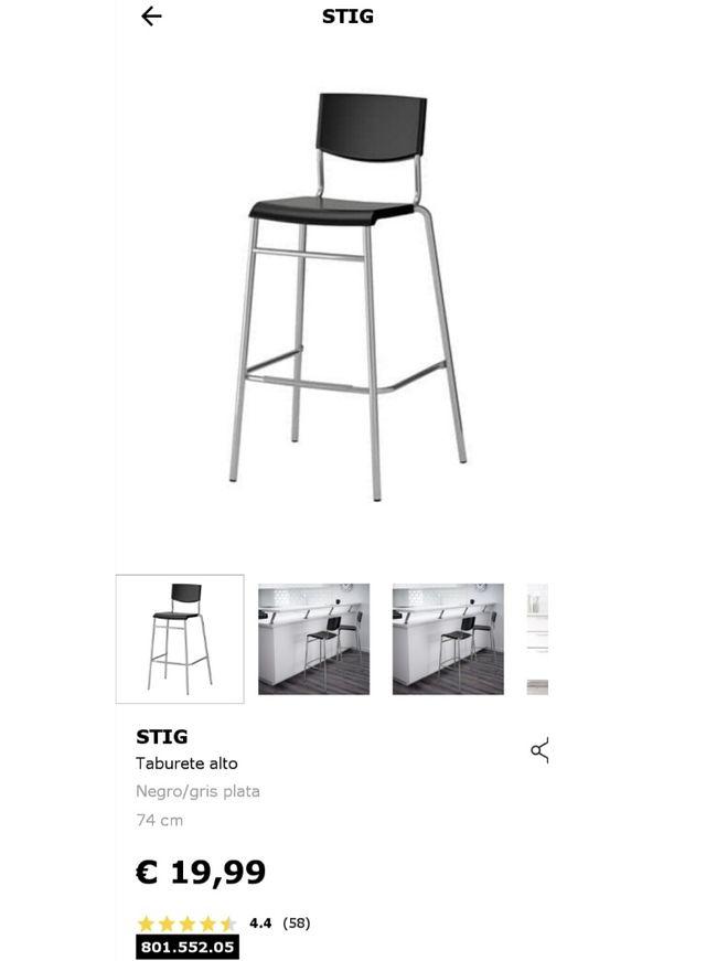 Taburete Stig.Taburetes Ikea Stig De Segunda Mano Por 10 En Malaga En