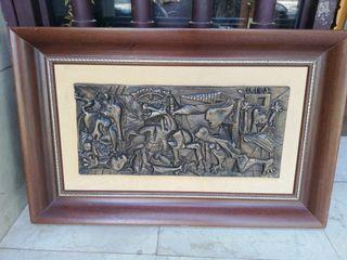 Cuadro Guernica en bronce