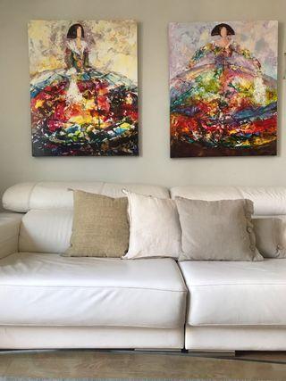 Original pinturas sobre óleo. Dos cuadros