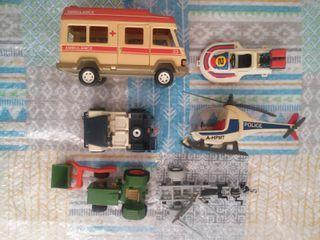 Lote castillo coches piezas mediaval