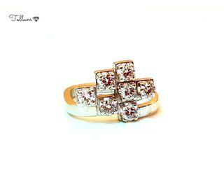 Sortija en oro 18kts y diamantes