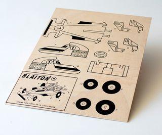 Maqueta de madera para recortar y pintar. Coche F1