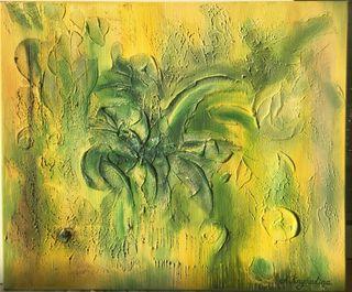 "Cuadro al óleo ""Jungla"" 46x55 cm, exclusivo"