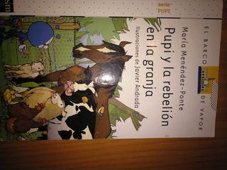 libros de lecturas Pupi en la rebelión en la granj