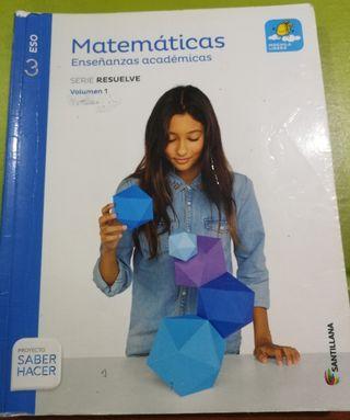 Matemáticas académicas 3ESO Santillana