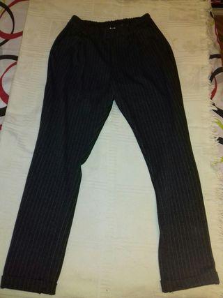 Pantalones Grises Rayas