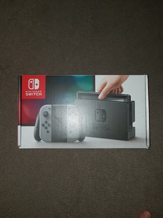 Nintendo switch with two games and controller