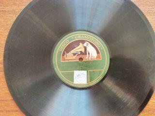 Discos antiguos de pizarra para gramola/gramófono.