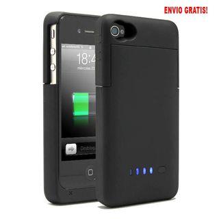 Funda-batería para iPhone 4 / 4S, color Negro