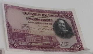 Billete 50 pesetas 1928 serie D
