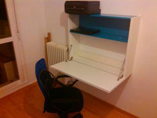 Escritorio plegable de pared+REGALO silla oficina
