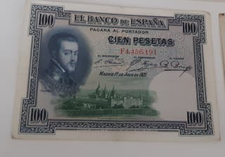 Billetes 100 pesetas 1925 series D E F
