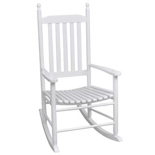 vidaXL Mecedora de madera con asiento 40858
