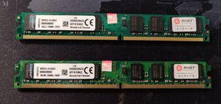 3 MEMORIAS RAM DDR2, 2GB CADA UNA