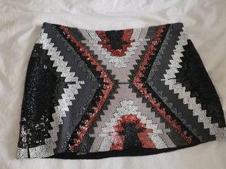 Falda pañuelo tipo hermes Zara de segunda mano por 25 € en