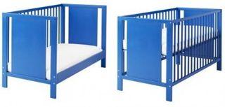 Cunas de madera azul