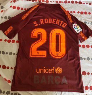 Camiseta Barcelona Barça Sergi Roberto 2017 2018