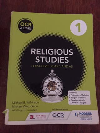 Religious Studies For A Level Year 1 and AS