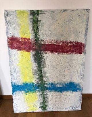 Cuadro decoración pintado a mano 1m x 1.60 EXC