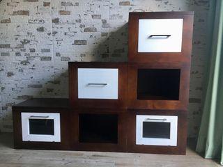 Cubos madera maciza