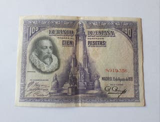 Billete 100 pesetas 1928