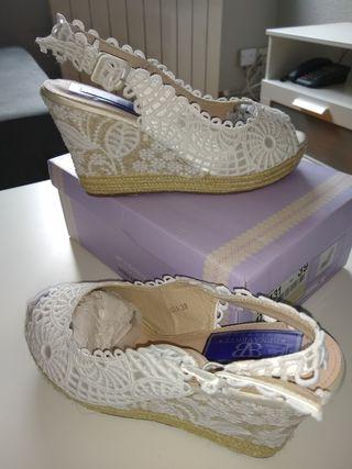 En Novia Con Cuña De Segunda Wallapop Zapatos Mano E2IHWD9