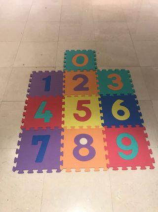 Alfombra puzzle numeros