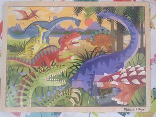 Puzzle madera dinosaurios