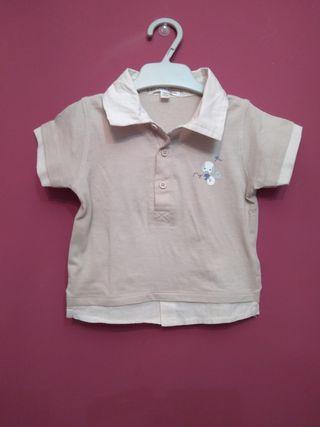 Camiseta efecto camisa