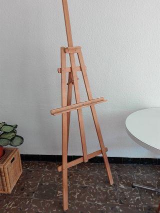 Caballete estudio trípode de madera