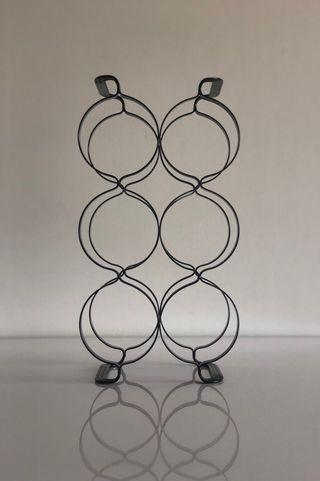 Botellero Negro de Diseño para 6 botellas