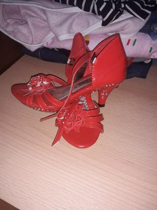 zapato niña tacon
