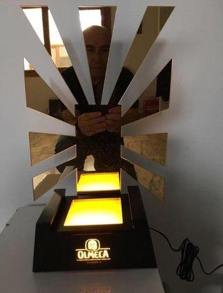 EXPOSITOR LUMINOSO OLMECA TEQUILA BAR PUB DISCO