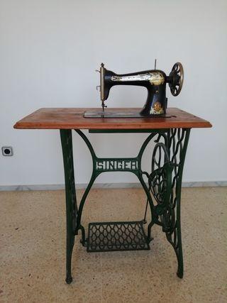 Singer, antigua, máquina de coser