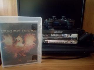 PS3 + mando + juegos