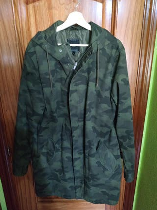 Chaqueta larga camuflaje only and sons