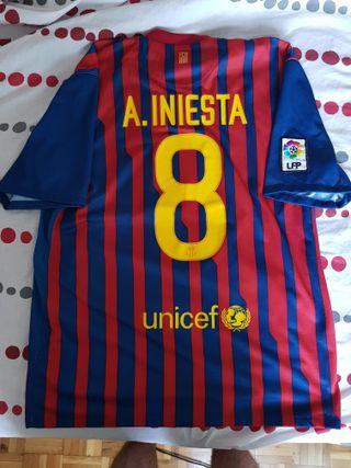 Camiseta Barcelona Barça Iniesta 2011 2012 Talla L