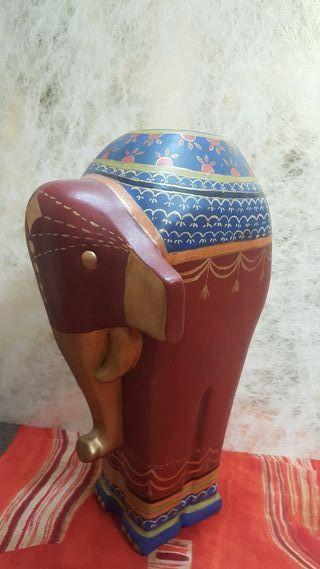 Elefante pintado a mano 48cm
