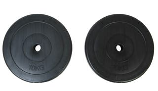 vidaXL 2 Discos De Pesas 10 Kg 90269