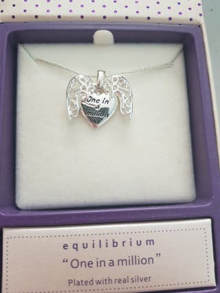 Equilibrium Silver Plated Necklace