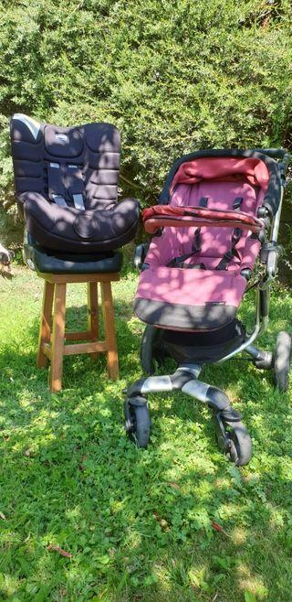 silla de paseo con silla de coche