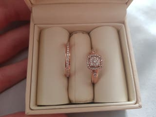 9ct Rose Gold Ring Set.