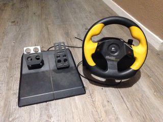Volante PC Fórmula 1 WingMan de Logitech + pedales