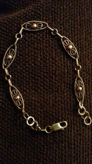 93f58c5546f4 Pulsera de oro antigua de segunda mano en WALLAPOP