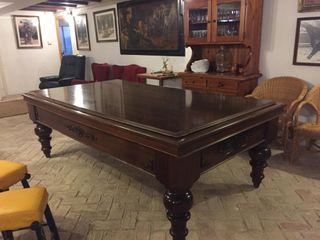 Mesa de billar antigua madera caoba