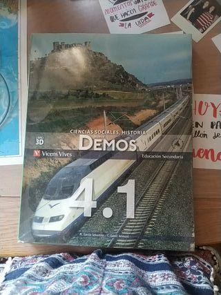 libro ciencias sociales, historia DEMOS