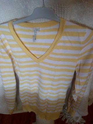Jersey de rayas blancas y amarillas